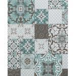EDEM 87001BR15 Papier peint pour cuisine et bain accents métalliques turquoise beige-gris 5,33 m2