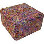 EMPORIUM pouf / table basse ZOE (Multicolor - plastique)