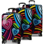 Ensemble 3 valises rigides Madisson Funky Hearts Multicolore noir