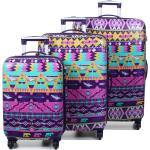 Ensemble 3 valises rigides Snowball Bohème Violet