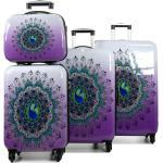 Ensemble 3 valises rigides Snowball Mandala et vanity Rose violet