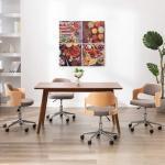Ensemble de 4 tableaux sur toile Cuisine Multicolore 80x80 cm DEC023023