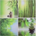 Ensemble de 4 tableaux sur toile Nature Multicolore 80x80 cm DEC023022