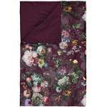 ESSENZA Fleur jeté de lit, Burgundy, 180 cm x 265 cm