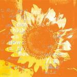 Eurographics ANF1187 Affiche d'Anna Flores Motif Tournesol/Orange/Bleu 30x30cm
