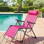 Fauteuil relax de jardin Silos Framboise