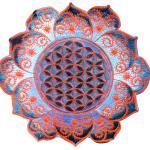 Fleur De Vie Blanche Fractal Mandala Sacré Géométrie Psy Patch Drunvalo Melchizedek