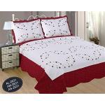 ForenTex Couvre-lit brodé avec taies d'oreiller pour Printemps/été/Automne Moderne cama 90 y 105 cm A-2631