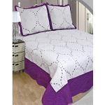 ForenTex Couvre-lit brodé avec taies d'oreiller pour Printemps/été/Automne Moderne cama 90 y 105 cm M-2596