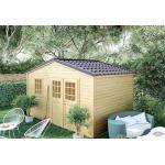 Forest-Style Abri de Jardin en Bois d'Épicéa Brut Shelty+ 11 m² - 3249
