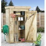 Forest-Style Armoire de jardin en bois l.131 x P.69 x H.200 cm ep.15 mm - Theo - 001336
