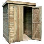 Forest-Style Armoire de jardin en bois l.156 x P.135,5 x H.195 cm ep.15mm - Theofil - 003274