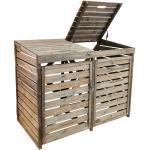 Forest-Style Cache poubelle double bois traité l.171,5 x H.134,7 cm - New Chester - 004042