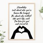 Friendship Quote Art Print, Affiche Typographie, Best Friend Gift, Birthday Gift For Friend, Bookworm
