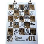 Fun lettres de l'alphabet A-Z Décoration murale. La Main d'écran Imprimé Alternative A-Z Impression. Urban Hip Hop Style Poster en bronze.