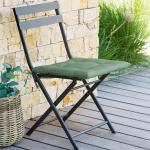 Galette de chaise 4 points Korai Vert olive Jardin