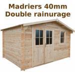 Gardy Shelter Abri de jardin 12m² PLUS en bois 40mm brut Gardy Shelter