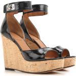 Givenchy Chaussure à Talon Compensé Femme Pas cher en Soldes Outlet, Noir, Cuir Verni, 2021, 35 36 37 38