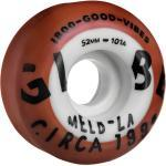 GLOBE Good Vibes Dual Pour 52 /rust blanc Skateboards Roues Rust White