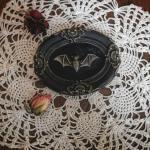 Goth Frame/Edwardian Gothic Victorian Goth Home Déco Mourning Art Witch Bat