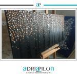 Grande Peinture Abstraite Sur Toile 48''x''24 Bronze Argent Texture Originale Art 3D Decoraction D'art Moderne
