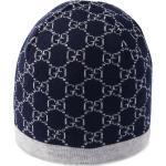 Gucci Kids bonnet en laine à motif GG - Bleu