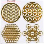 GUMEI 7 Chakra cuivre Tour d'énergie Orgonite Autocollants Bricolage Pyramide résine époxy matériel