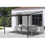 Habrita Pergola adossée en aluminium et polycarbonate 9,21 m² - TT 3030 AL