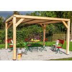 Habrita Pergola bioclimatique en bois de sapin 10,58 m² - Toiture - VT 3431 T