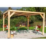 Habrita Pergola bioclimatique en bois de sapin 12,20 m² - Toiture - VT 3436 T