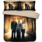 Harry Potter Parure De Couette 3d Imprimé - 1 Housse De Couette 220 X 240 Cm + 2 Taies D'oreiller 48 X 74 Cm