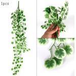Hawaii Tropical Plantes Artificielles Feuilles De Palmier Glycine Vigne Guirlande Hawaïe - Modèle: 1pcs 90cm Leaves - Hsrpddiya09543