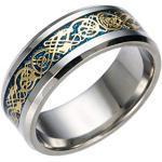 Bagues de mariage HiJones gris acier celtiques look fashion pour homme