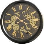 Horloge avec mécanisme style industriel