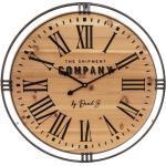 Horloge Colonial métal bois D58 cm