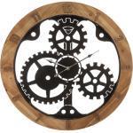 Horloge mécanique, métal bois D58 cm