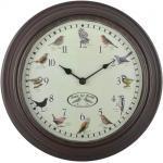 Horloge murale avec sons d'oiseaux 30,1 x 4,5 cm DEC022245