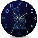 Meubles bleu ciel à motif chats modernes