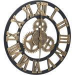 Horloge murale Doré et noir 45 cm MDF DEC022240