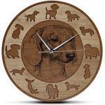 horloge avec Chiens Motif teckel Horloge rauhhaardackel Schweißhund RETRIEVER