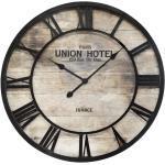 Horloge Vintage , bois métal D68 cm