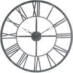 Horloge Vintage grise, métal D70 cm