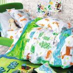 Housse de couette enfant en coton multicolore 200x200