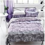 Housse de couette imprimé en satin de coton, Filigriana Violet Designers Guild