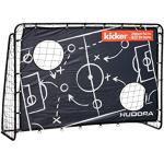 HUDORA Trainer Edition Matchplan de Football pour Enfant et Adulte avec Panneau de Porte Motif Kicker Noir 213 x 152 x 76 cm