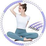 Hula Hoop Fitness Adulte, 1-4kg Weighted Hula Hoop Acier Inoxydable 6 Sections Demontable Mousse de Coton Epaisse Massage Exercice Indolore, Cerceau Hula Hoop pour Debutant Perte de Poids