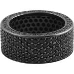 Iced Out Bling Micro Pave Bague - 360 Eternity Noir