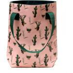 Ikuri Sac Fourre-Tout Imperméable À L'Eau - Shopper Pour Les Femmes De Plane Tote Bag Avec Motif Cactus Modèle Edition Valentina
