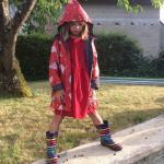 Imperméable Enfant Fille 8 Ans. Ciré À Capuche Doublé