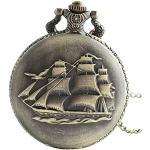 Infinite U Voilier Antique/Navires de Guerre/Bateau de Pirate Grand Montre de Poche Quartz Chiffres Arabes